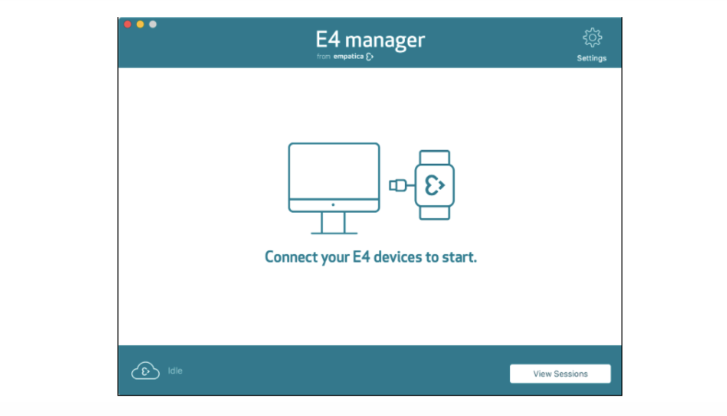 E4 manager connect device screen