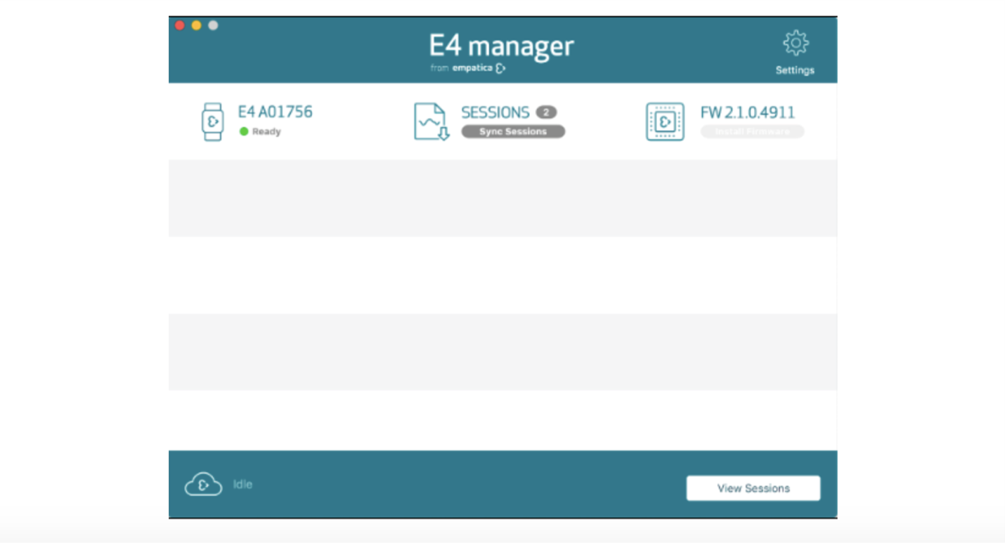 E4 manager view sessions